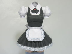 Paper Figure / Pretty Maid A / Black / for adult [PaperCostumeFactory]