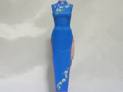 Paper Figure / Chinese Dress / Blue [PaperCostumeFactory]
