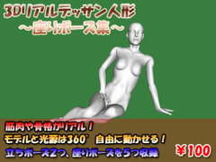 3D Real Design Doll -Sitting Poses- [sawamura japan]