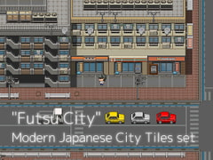 """Futsu City"" Modern Japanese City Tiles set [Glayfax labo]"