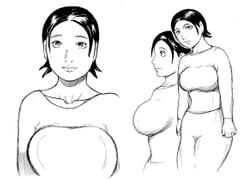 豊満な肉体の人妻と巨男
