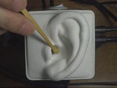 【声なし】竹製の耳かきでゆっくり&高速耳かき / SR3D