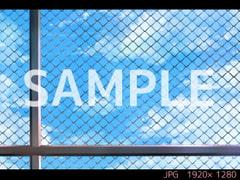 屋上(フェンス) 昼【ゲーム背景素材】