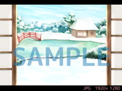 和室 冬 昼【ゲーム背景素材】